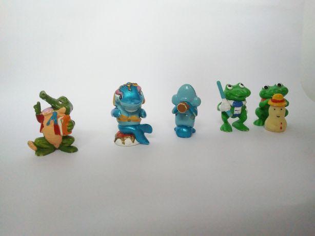 Sprzedam figurki z Kinder Niespodzianek ŻABY DELFINY KROKODYL