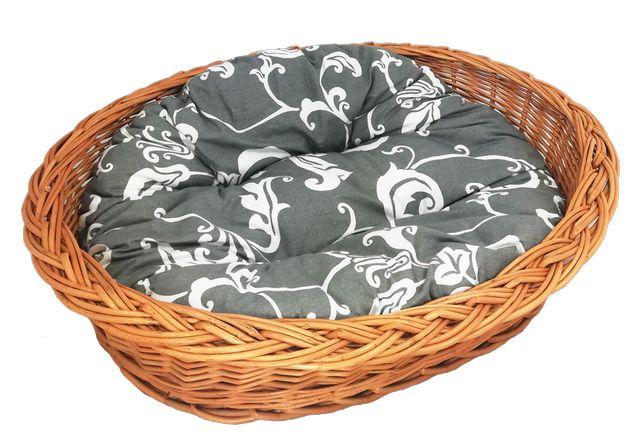 """Zestaw legowisko """"zwykłe"""" 58 cm + poduszka szaro-biała"""