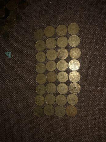 Продам монети 50 коп 1992 року 32 шт