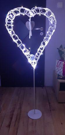 Podświetlane stojące wysokie serca - 2 szt - dekoracje weselne