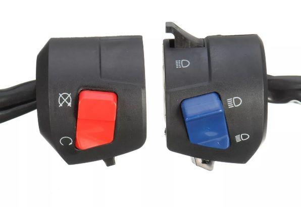 comandos interruptores moto comando botões botão starter corta mota