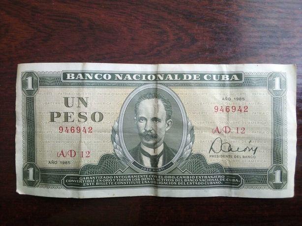 Banknot 1 peso Kuba