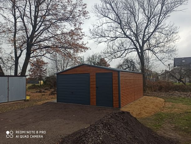 Garaż garaże blaszane drewnopodobne wzmacniane 6x6 wiaty hale