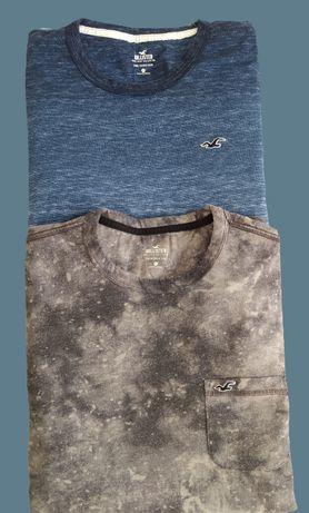 Dwie Koszulki Męskie z długim rękawem Marki Hollister