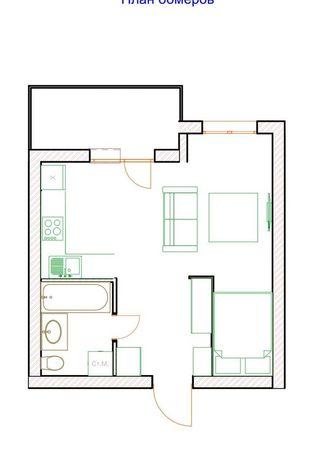 Квартира, новострой, ремонт ( мебель + техника)