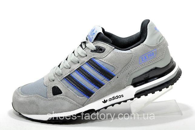 Кроссовки мужские Adidas ZX750, Серый/Синий, купить