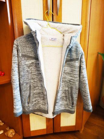 Тепла демісезонний куртка для хлопця-пальто толстовка джемпер130-150