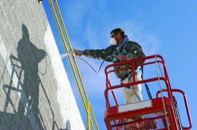 Malowanie natryskowe Magazynu Hali Elewacji Domu Ogrodzeń