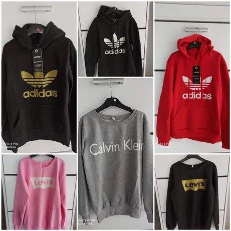 Bluzy damskie z logo Adidas CK Levi's kolory S-XL!!!