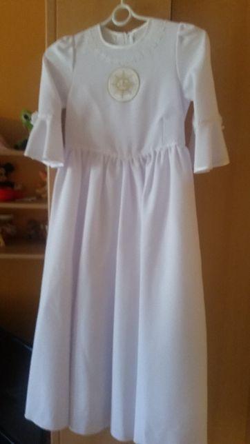 Sukienka komunijna+ bolerko+ torebka+ przebranie+wianek+dodatki