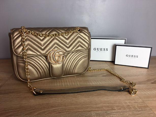 Damska torebka Gucci GG Złota Polecam za pobraniem w 24H Okazja Warto