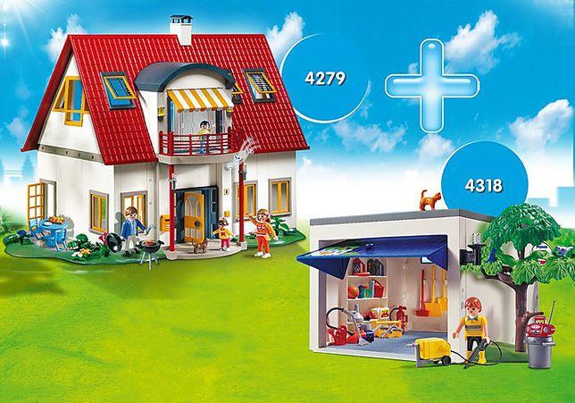 Playmobil Большой загородный дом с гаражом. 4279, 4318