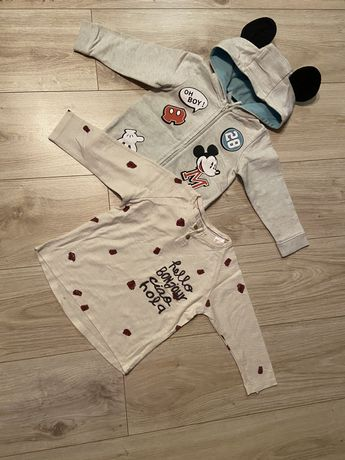 Bluza H&M koszulka Zara r.86