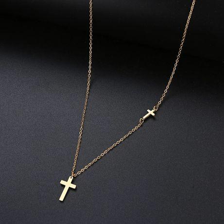 Piękny łańcuszek z krzyżykami
