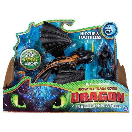 Как приручить дракона 3: набор из дракона Беззубика и всадника Иккинг