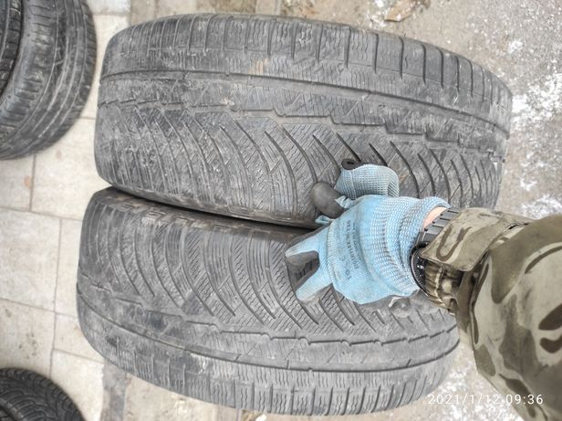 235.45.19 Michelin 2шт зима БУ склад шины резина из Европы