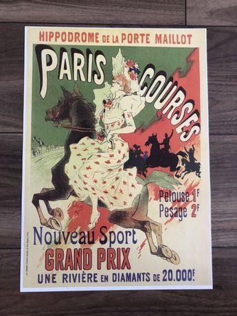 Plakat poster Hippodrome de la Porte Maillot, Paris Courses nowy