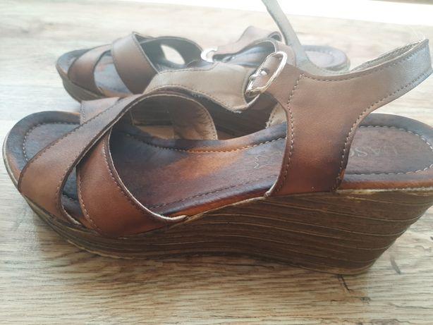 Koturny sandały skórzane LASOCKI skóra naturalna r. 36