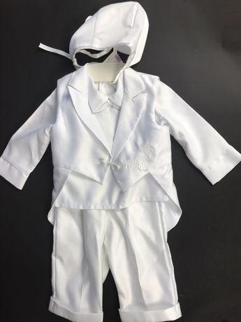 Strój na chrzciny dla chłopca garnitur spodnie kamizelka koszula itd