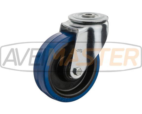 Roda Elastic Azul Centro Nylon 100x36 Alt 128 RA 200 Kgs - 075060