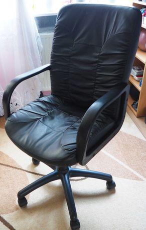 Fotel biurowy czarny ekoskóra