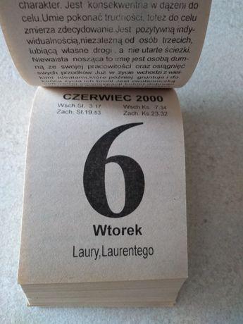 Kartka z kalendarza rok 2000