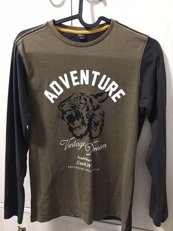 Лонгслив, футболка с длинным рукавом на мальчика 10-12 лет