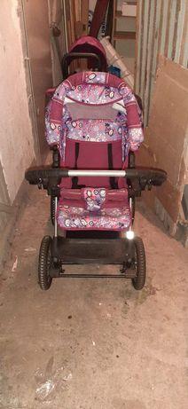 Wózek spacerowy dla dziewczynki