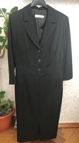 Платье-футляр черное в белую полоску Natali Bolgar, 38размер