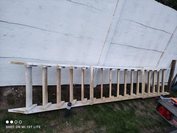 Schody budowlane sosnowe