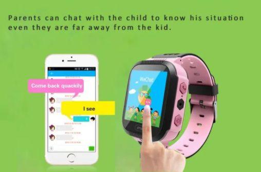 Детские смарт часы-телефон з сенсорным дисплеем