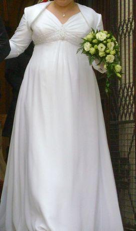 Suknia Ślubna 44/46 L/XL ( w opisie wymiary)