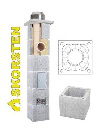 Komin Systemowy fi 200 / 6mb Skorsten Plus jednociągowy skład fabryczy