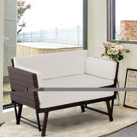 2-osobowa sofa ogrodowa rattan