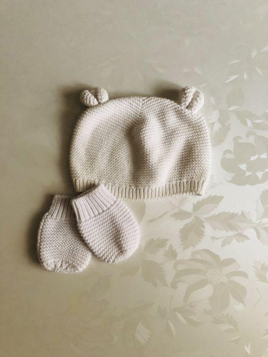Шапочка комплект набор рукавички tu 6-12 hm gap Хмельницкий - изображение 1