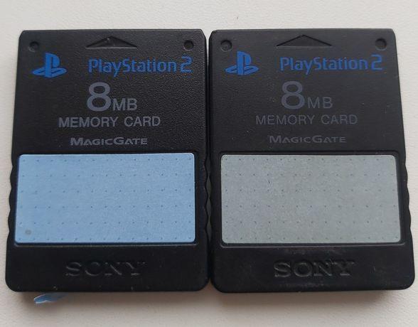 Orginalne karty pamięci memory card Playstation 2 PS2 8MB