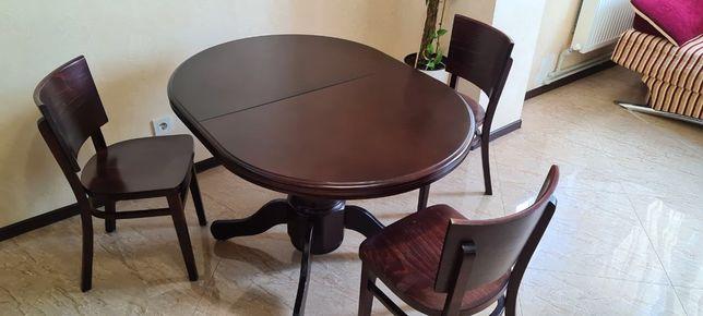 Кухонный раздвижной деревянный стол