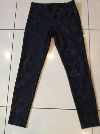 H&M Spodnie cygaretki eleganckie czarne rozm. S STAN IDEALNY