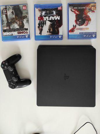 PlayStation 4 slim + gry !