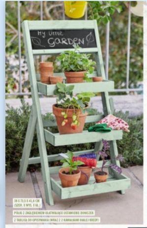 Nowy ozdobny stojak na rośliny półka regał na kwiaty kwietnik na taras
