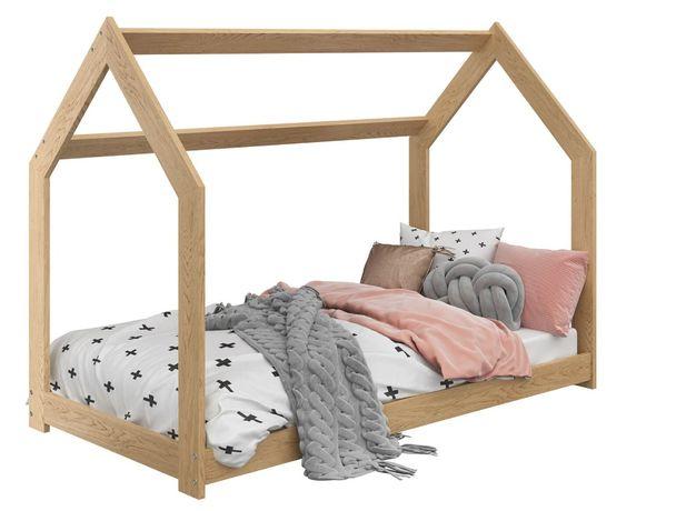 Łóżeczko domek D2 producent MebleMagnat 80x160 drewniane sosnowe