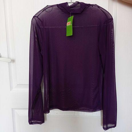 Фіолетовий гольф прозорий або ажурний,  розмір S