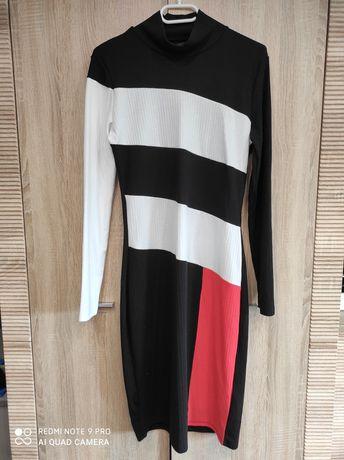 Długa sukienka Reserved dzianina czarna L 40