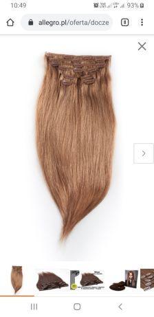 Doczepy, doczepiane naturalne włosy Long hair 55cm