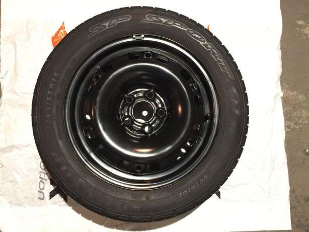 pełne oryg koło zapasowe Skoda Fabia 1-2 VW 5x100 15H ET43 + akcesoria