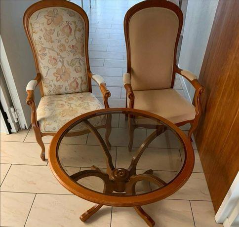 Fotel stylowy fotele stolik