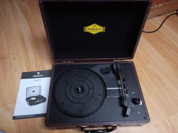 Peggy Sue Gramofon w stylu retro LP USB czarny