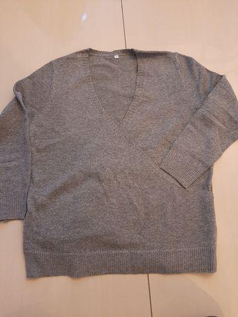 Sweter bluzka szara siwa XL