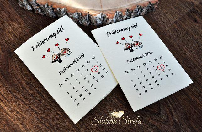 zaproszenie kalendarzyk happy zaproszenie ślubne