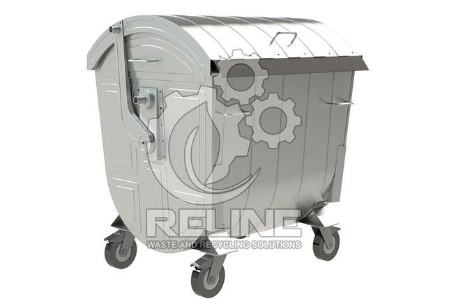 Евроконтейнер для мусора 1.1м3 1100л мусорный контейнер бак для ТБО